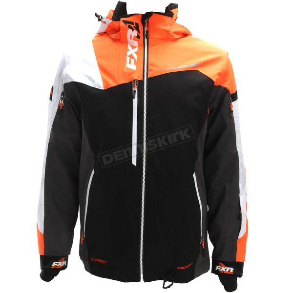 FXR Racing Black/Orange/White Weave Renegade X Jacket - 180018-3010-10