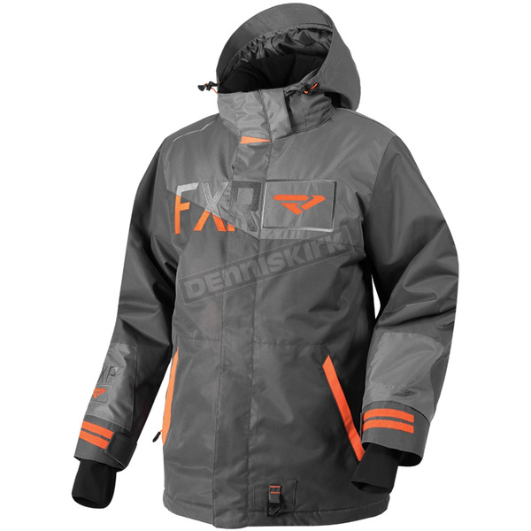 FXR Racing Charcoal/Gray/Orange Squadron Jacket - 180023-0805-10