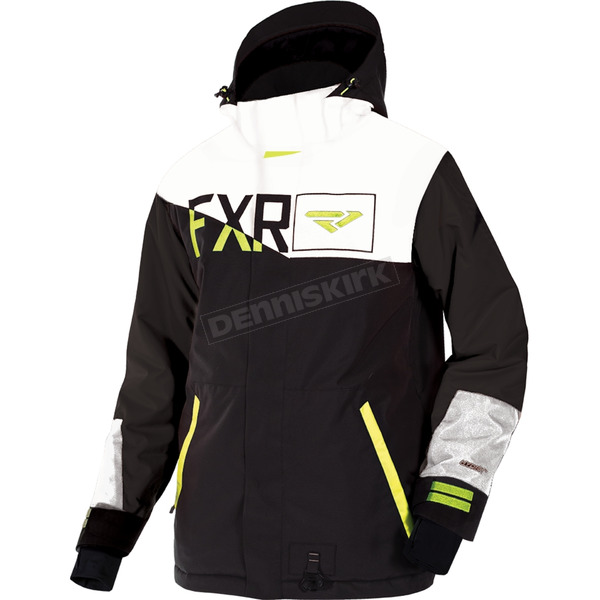 FXR Racing Black/White/Hi-Vis Squardron Jacket - 180023-1001-10