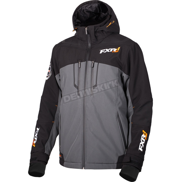 FXR Racing Charcoal/Black Vertical Pro Insulated Softshell Jacket - 180904-0610-10