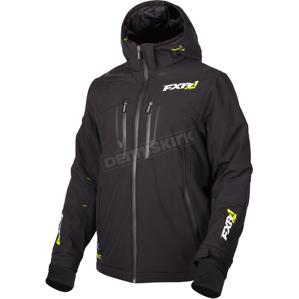 FXR Racing Black Vertical Pro Insulated Softshell Jacket - 180904-1000-07