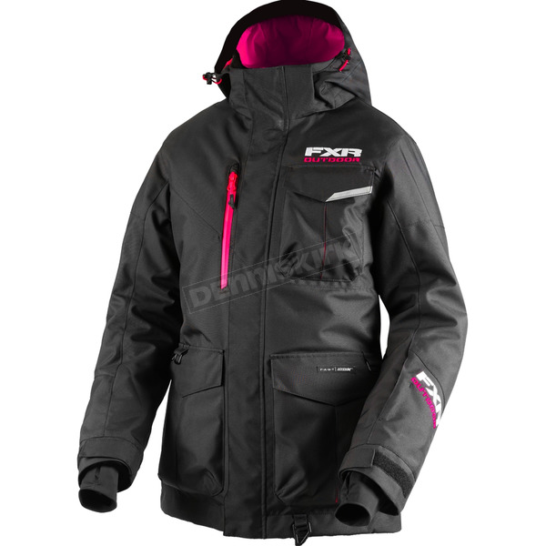 FXR Racing Women's Black Excursion Jacket - 180214-1000-12