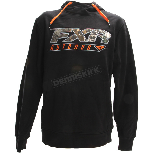FXR Racing Black/Realtree Xtra Outdoor Pullover Hoody - 181113-1016-13