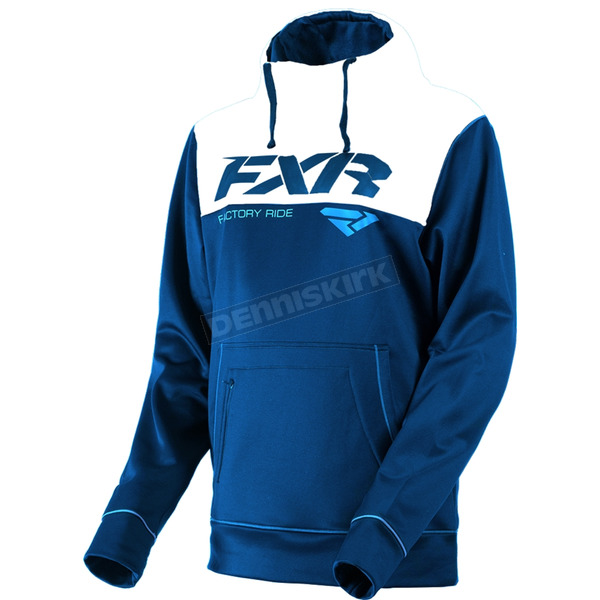 FXR Racing Navy/White Pursuit Tech Pullover Hoody - 181102-4501-10