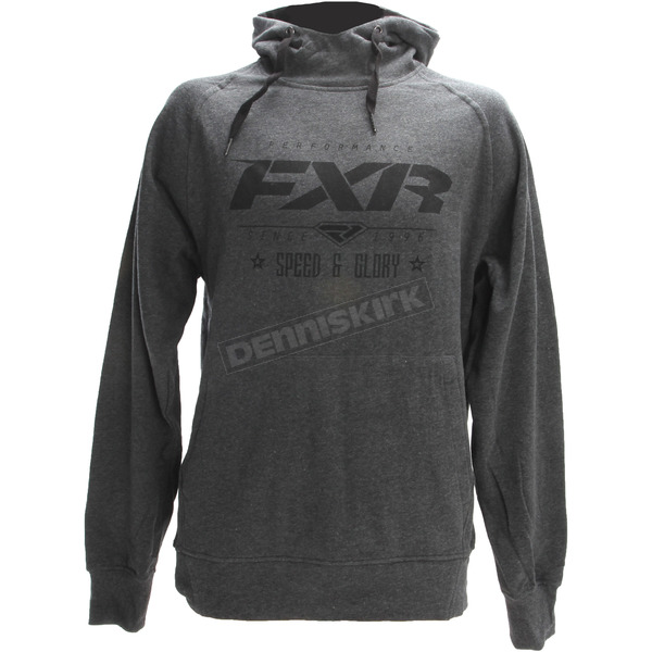 FXR Racing Charcoal Heather/Black Speed & Glory Pullover Hoody - 172014-0610-13
