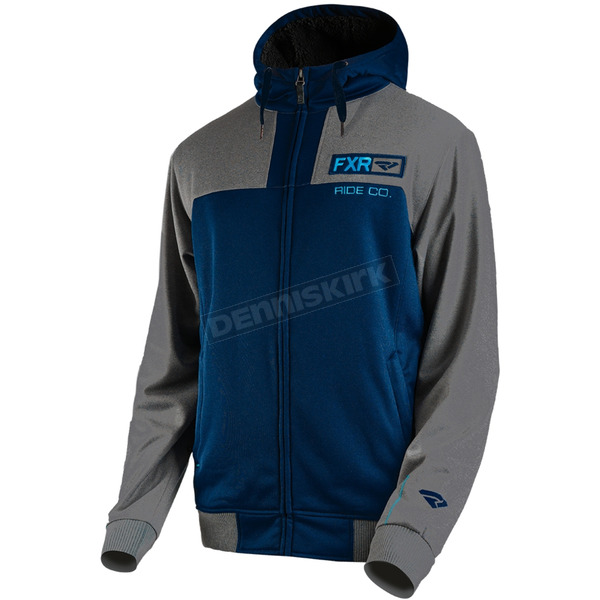 FXR Racing Navy/Gray Heather Terrain Sherpa Tech Hoody - 181101-4507-19