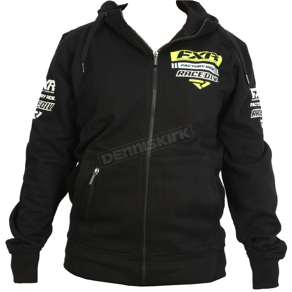 FXR Racing Black/Hi-Vis Race Division Zip Hoody - 173320-1065-22