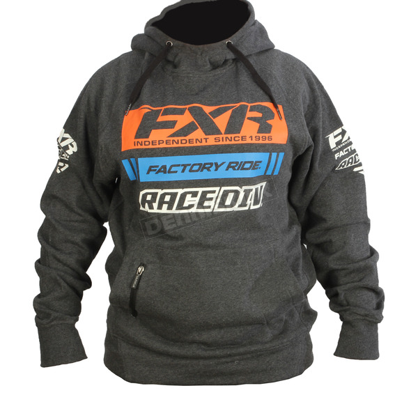 FXR Racing Charcoal Heather/Orange Race Division Pullover Hoody - 173321-0630-13