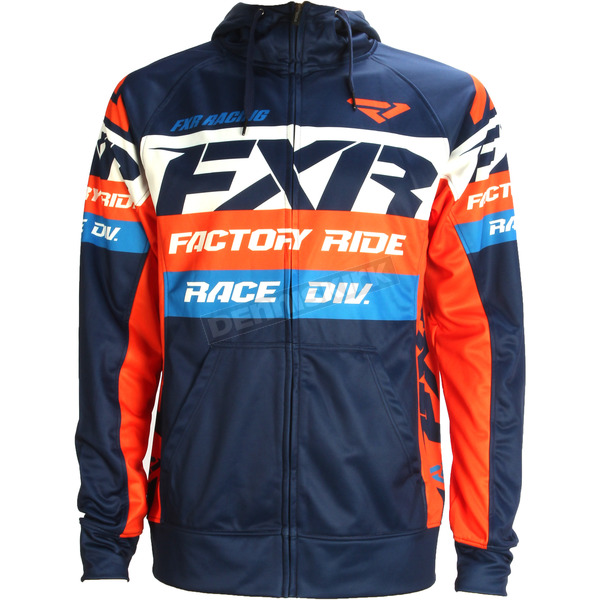 FXR Racing Navy/Orange Race Division Tech Zip Hoody - 172013-4530-16