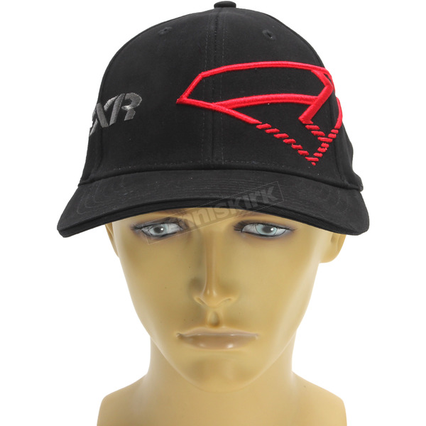 FXR Racing Black/Red Split Hat - 171626-1020-08