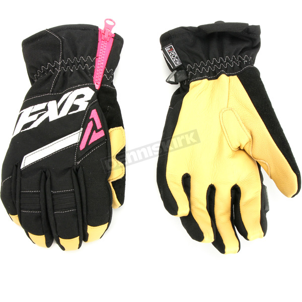 FXR Racing Women's Black/Fuchsia CX Short Cuff Gloves - 180813-1090-13