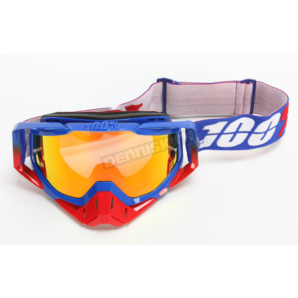 100% Racecraft Republic Goggles w/Mirror Red Lens - 50110-187-02