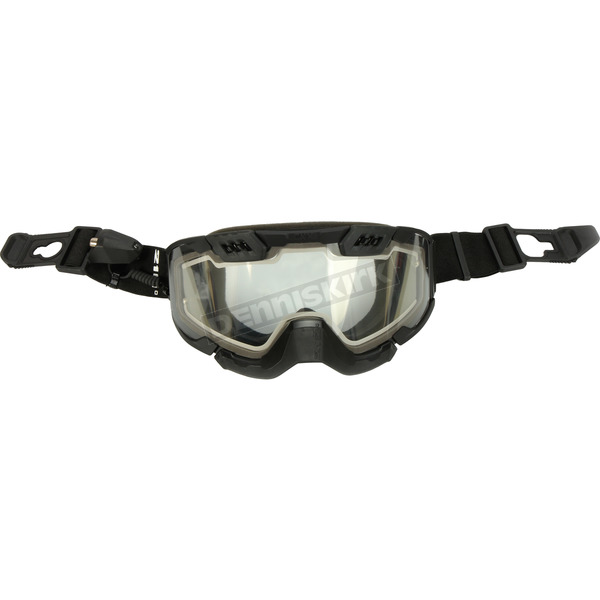 Black 210 Degree Backcountry Electric Goggles w/Clear Lens - 120153#