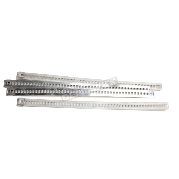 Cycle Performance Silver 8 in. Ladder Style Fat-Width Stainless Steel Tie Wraps - CPP/9176