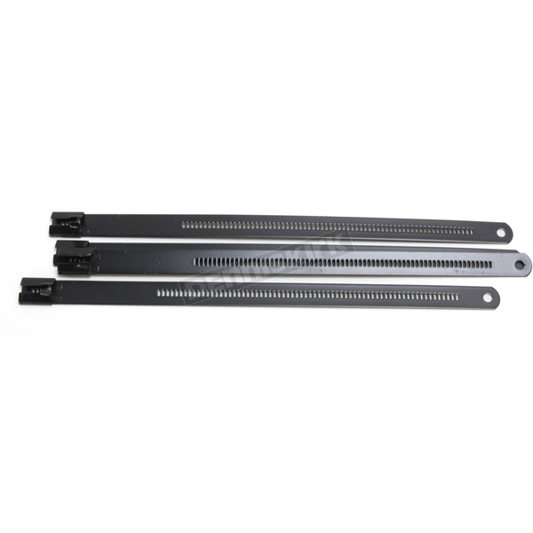 Cycle Performance Black 8 in. Ladder Style Fat-Width Stainless Steel Tie Wraps - CPP/9178