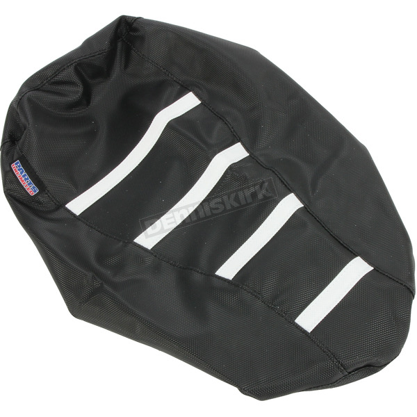 Black/White Gripper Ribbed Seat Cover - 0821-2885