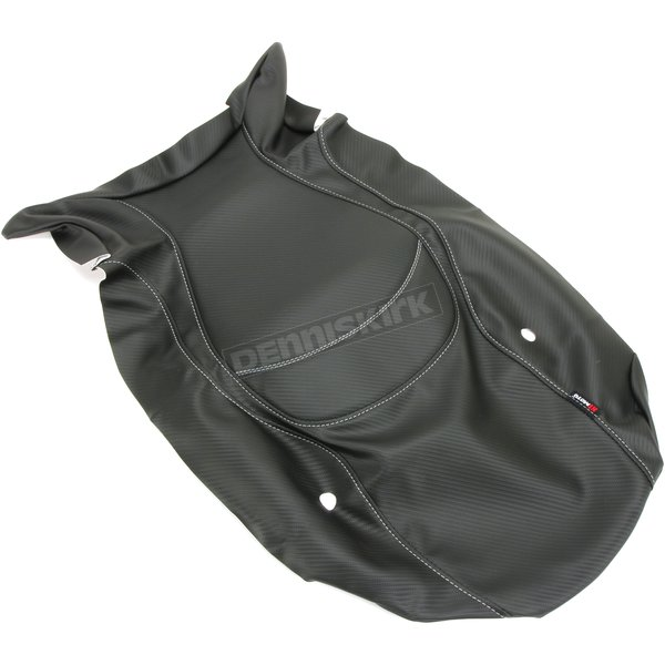 Black Carbon Gray Stitch Seat Cover - SB-BMW05