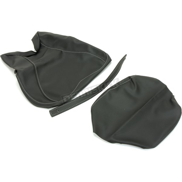Black Carbon Gray Stitch Seat Cover - SB-Y023