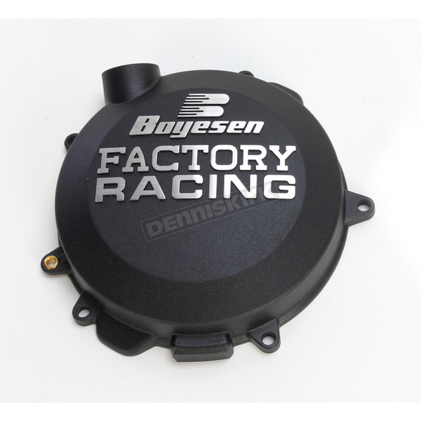 Boyesen Black Factory Clutch Cover - CC-41AB