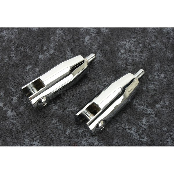 Chrome Passenger Footpeg Mount Set - 27-0623