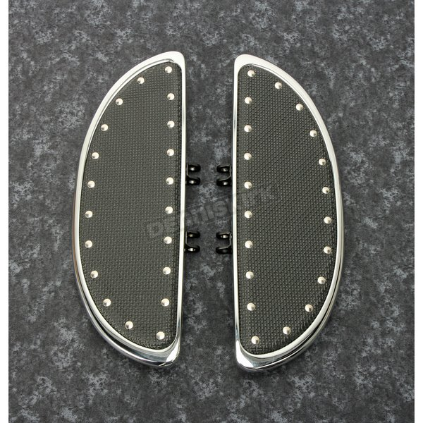 Chrome Floorboards w/Rivets - 104-ST