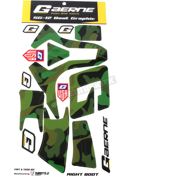 Camo SG-12 Boot Sticker Kit - T5120-021