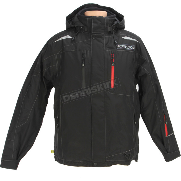 CKX Black/Red Octane Trail Snowmobile Jacket - M335_BK/RD_XS