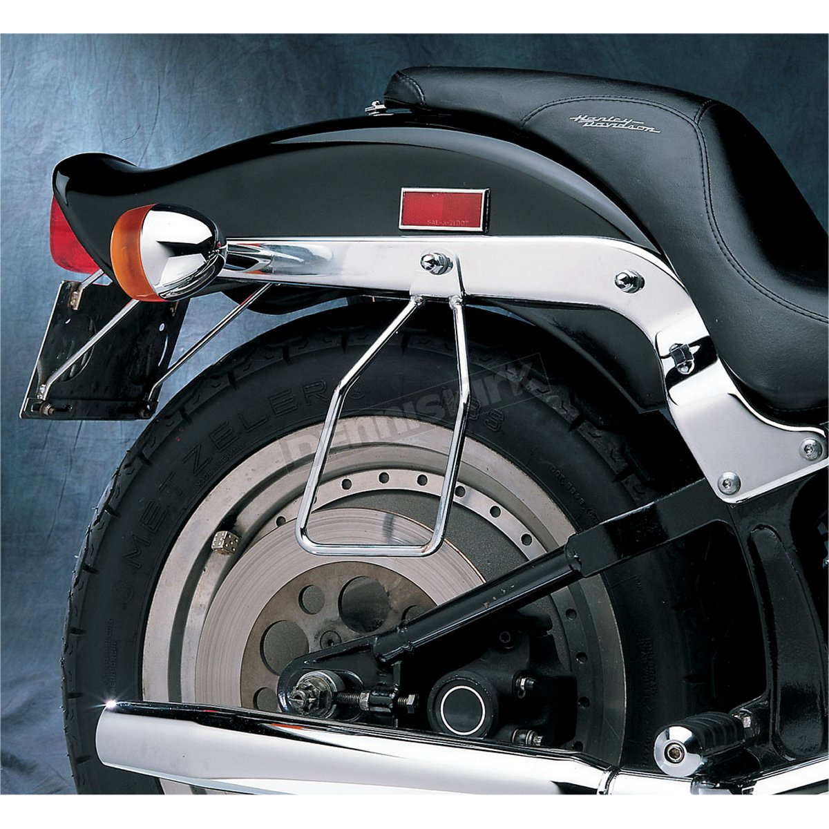 Drag Specialties Chrome Saddlebag Support ckets - Single Bolt ...