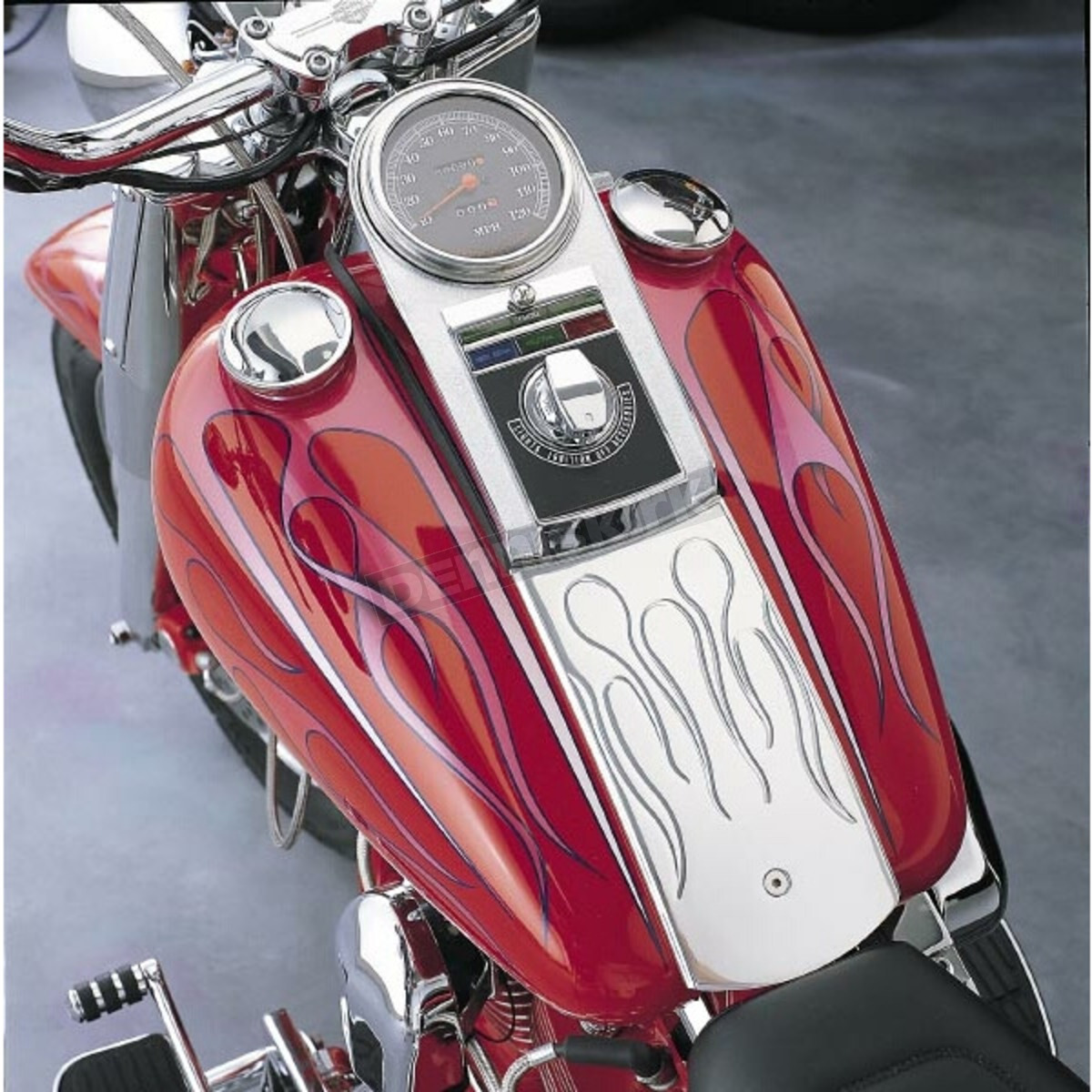 Chrome Dash Panel Kit with 1:1 Ratio Speedometer,for Harley Davidson,by V-Twin