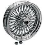 Chrome 18 x 5.5 Fat Daddy 50-Spoke Radially Laced Wheel - 0204-0343