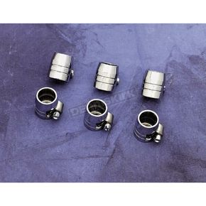 Grooved Chrome Hose End  with Clamps - DS-096608