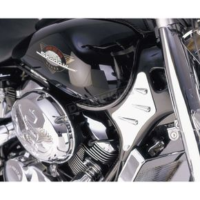 Show Chrome Chrome Neck Covers - 63-604