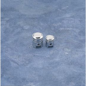 Drag Specialties Small Chrome Piston Valve Stem Caps - DS-181210