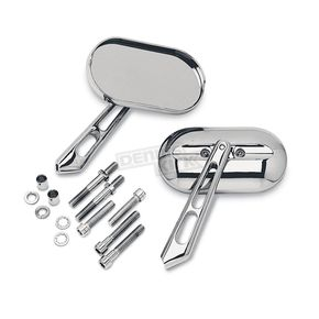 Chrome Magnum Mirror Set - 1428