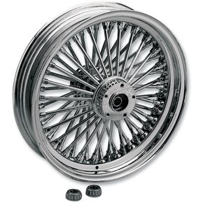 Rear Chrome 18 x 4.25 Fat Daddy 50-Spoke Radially Laced Wheel - 0204-0259