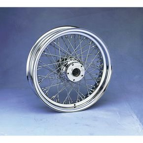 Drag Specialties Chrome 18 x 5.5 60-Spoke Laced Wheel Assembly - 02040344