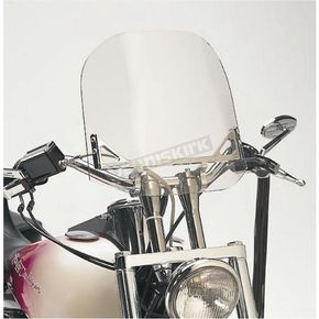WindVest Clear Windshield for Custom Applications w/1 1/4 in. Bars w/o Risers - 10-1090C