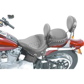 Mustang Seats 17 1/2 in. Wide Studded Solo Seat w/Removable Backrest - 79120