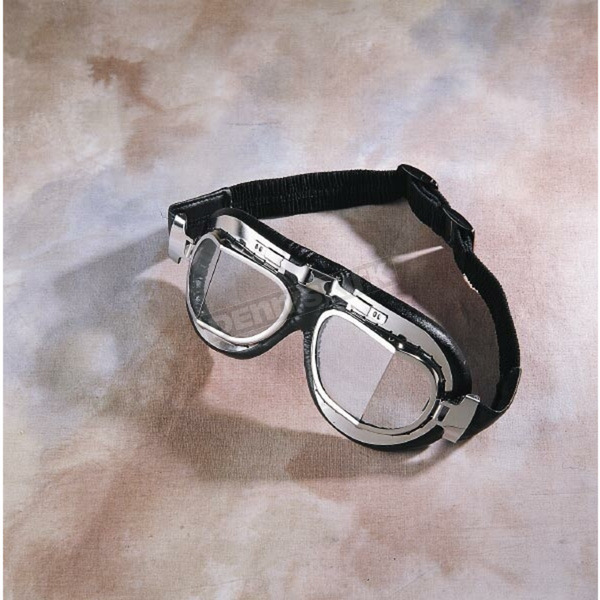 Drag Specialties Red Baron Goggles with Stainless Steel Frame - DS-110329