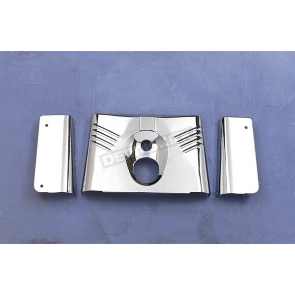 Drag Specialties Three-Piece Chrome Fork Tins without Slider Covers - DS-222910