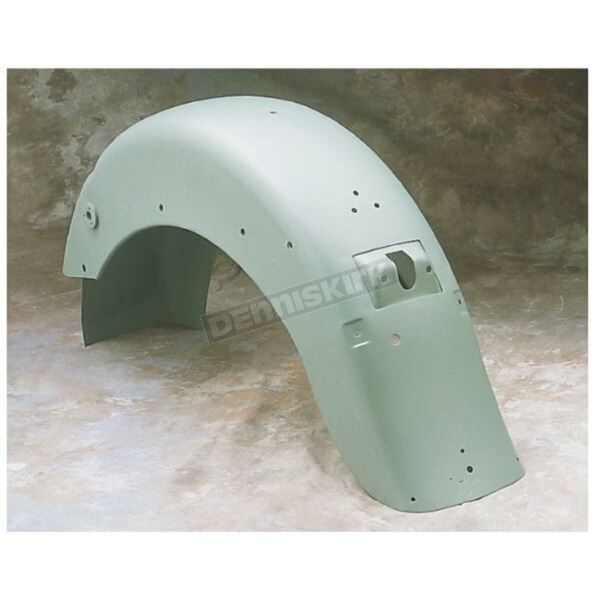 Drag Specialties One-Piece Rear Fender with Taillight and Turn Signal Mounting Holes - DS-380057