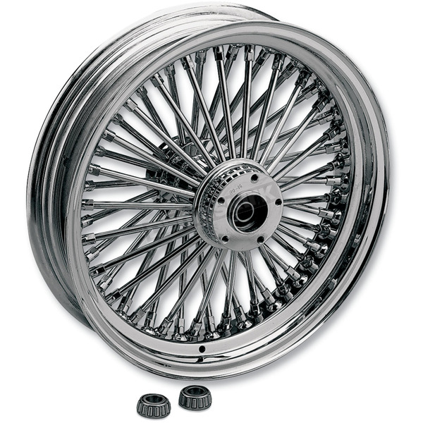 Drag Specialties Chrome 18 x 5.5 Fat Daddy 50-Spoke Radially Laced Wheel - 0204-0365