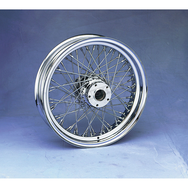 Drag Specialties Chrome 16 x 3.5 80-Spoke Laced Wheel Assembly - 0204-0053