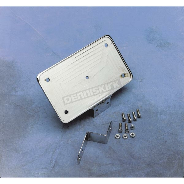 Drag Specialties Billet Aluminum Lay-Down License Plate Mount - DS-720134