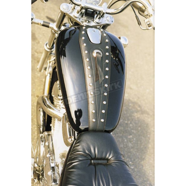 Mustang Seats Cruiser Tank Bibs with Studs and Concho - 93106