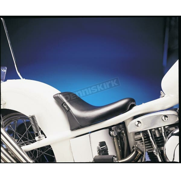LePera 9 1/2 in. Wide Bare Bones Smooth Solo Seat w/Biker Gel for Rigid Frames - LG-009