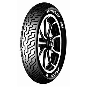 Dunlop Front K491 Elite II Touring MM90H-19 Raised White Letter Tire - 407573