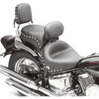 Studded Wide Touring Seat with Driver Backrest - 79220