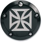Black Anodized Maltese Cross Points Cover - C1605-CB