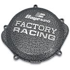 Factory Racing Black/Silver Clutch Cover - CC-38A